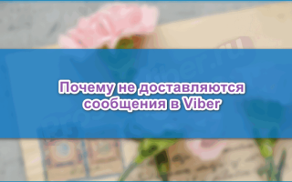 Не доставляются сообщения в Viber, что делать — инструкция