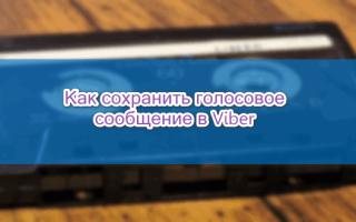 Как сохранить голосовое сообщение из Viber — руководство