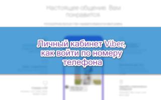 Viber онлайн вход по номеру телефона, как войти в личный кабинет