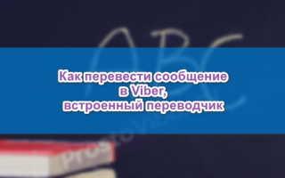 Переводчик сообщений в Viber, как включить и как пользоваться