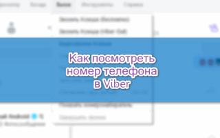 Как посмотреть номер телефона в Viber — инструкция