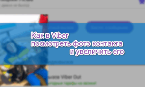 Как в Viber посмотреть фото контакта крупно на телефоне и ПК