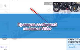 Проверка сообщения на спам в Viber — активация опции