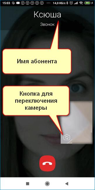 Окно во время связи